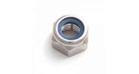 Гайка с контрящим кольцом DIN 985